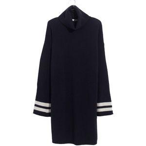 Madewell Bell-Sleeve Turtleneck Sweater-Dress M -